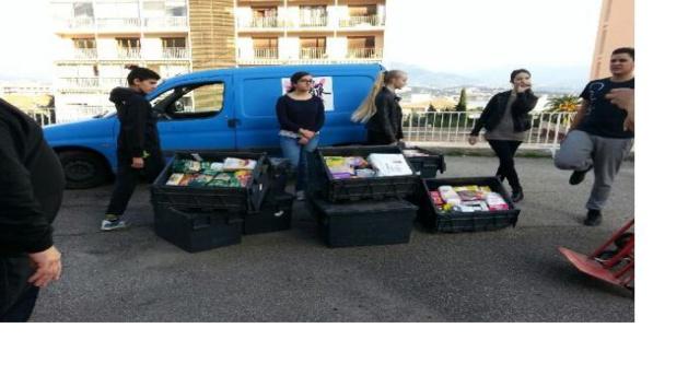 Ajaccio : Le collège Laetitia a collecté 280 kilos de denrées  pour les Restos du Cœur