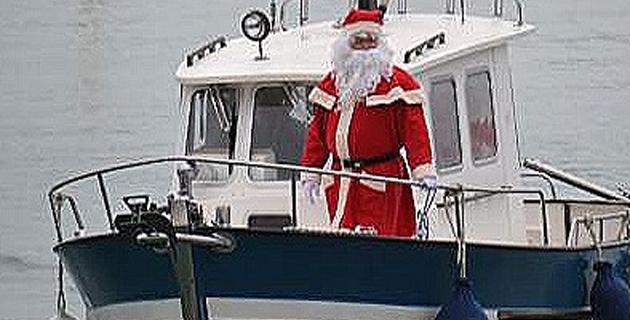 A l'Ile-Rousse le père Noël revient le 24 décembre par la mer !