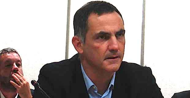 Gilles Simeoni, président du Conseil exécutif territorial, conseiller municipal de Bastia.