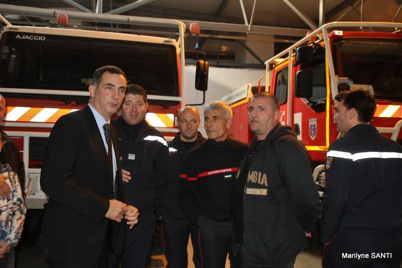 Agression des Jardins de l'Empereur : Les élus chez les pompiers d'Ajaccio
