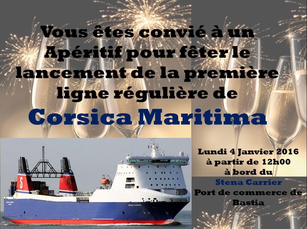 Corsica Maritima invite ses amis au lancement de sa première ligne régulière entre Bastia et Marseille