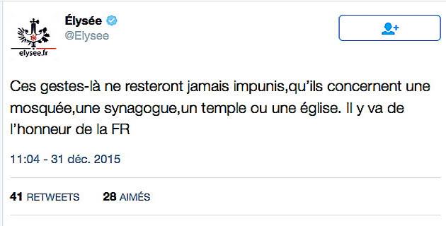 """François Hollande et le lieu de prière d'Ajaccio : """"Ces gestes-là ne resteront jamais impunis"""""""