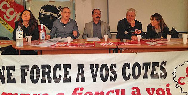 Philippe Martinez, le secrétaire général de la CGT, en visite en Corse