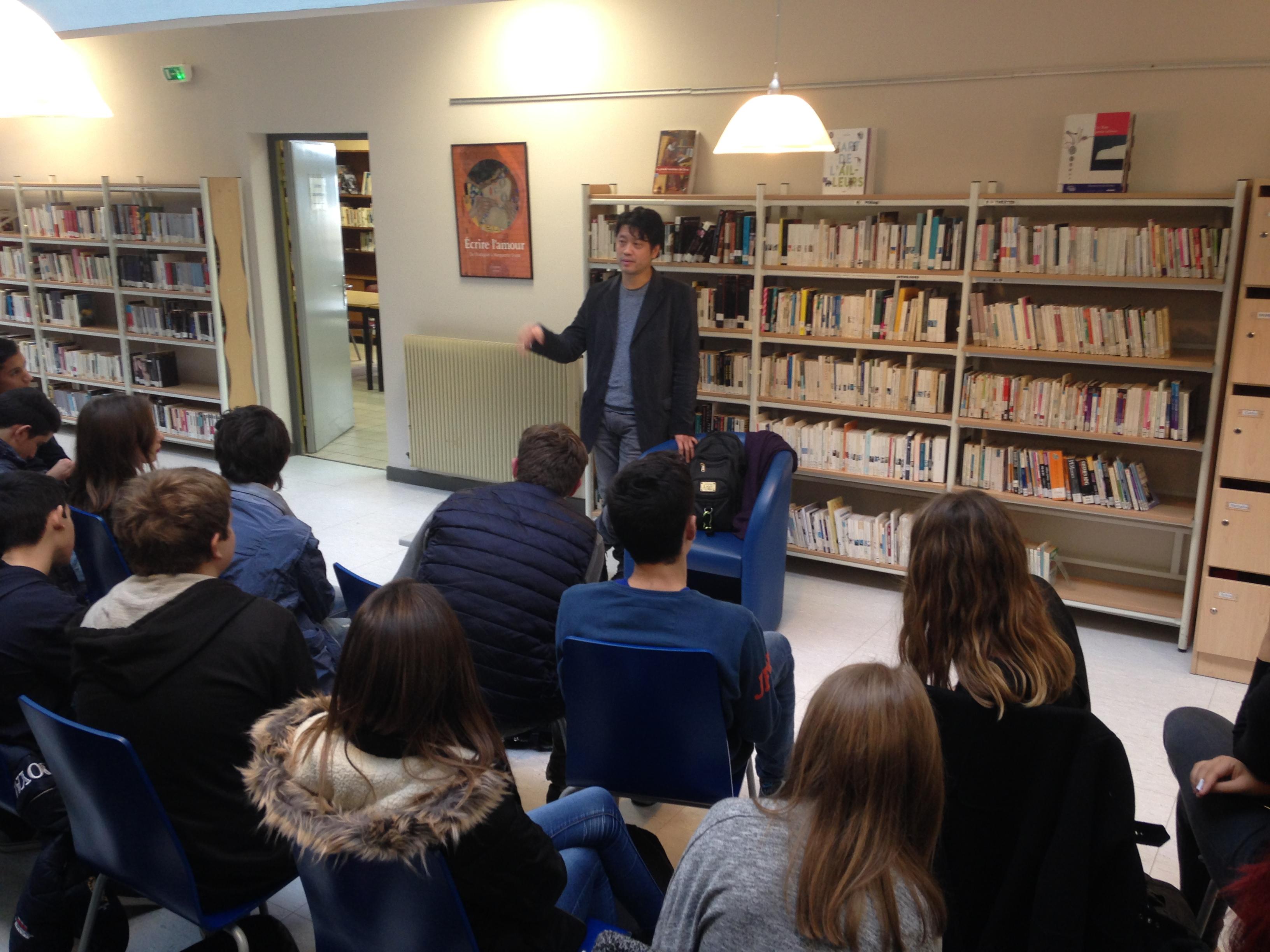 Bastia : L'auteur de BD, Jung, à la rencontre des lycéens
