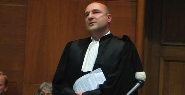 Nicolas Bessone, Procureur de la République de Bastia, lors de la rentrée solennelle du TGI.