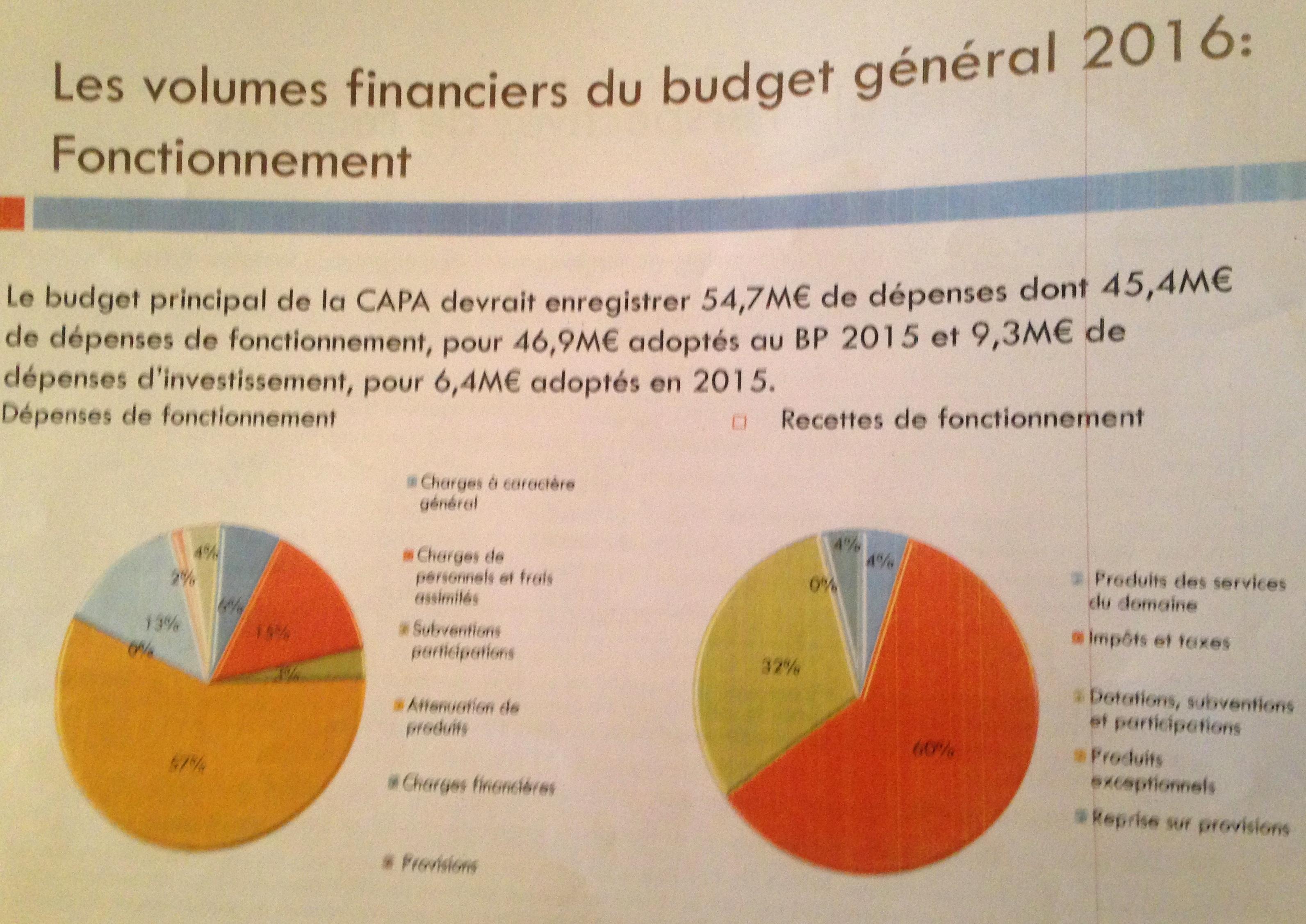 Débat d'orientations budgétaires à la Capa : Faire davantage avec moins…Et maîtriser les dépenses !