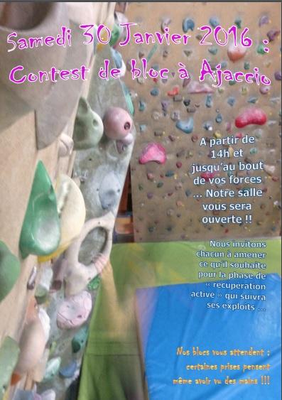 Escalade : Compétition de bloc à Ajaccio ce samedi