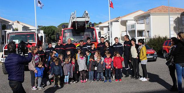Les enfants du centre aéré à la découverte du Centre d'intervention et de secours de Calvi