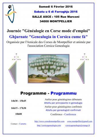 Corsica Genealugia : Une première rencontre à Montpellier