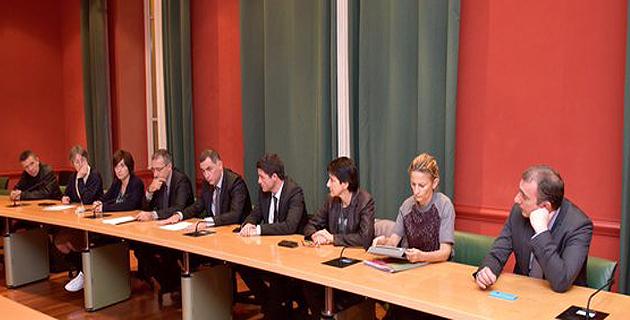 Gilles Simeoni et le Conseil exécutif de Corse en Sardaigne