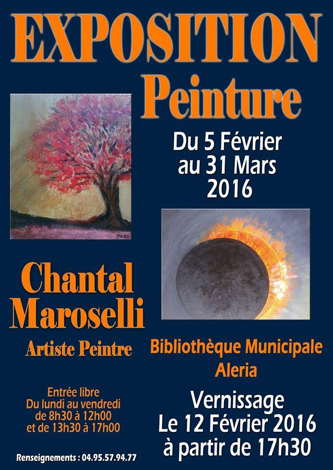 Aleria : Vernissage des œuvres de Chantal Maroselli  à la maison des associations