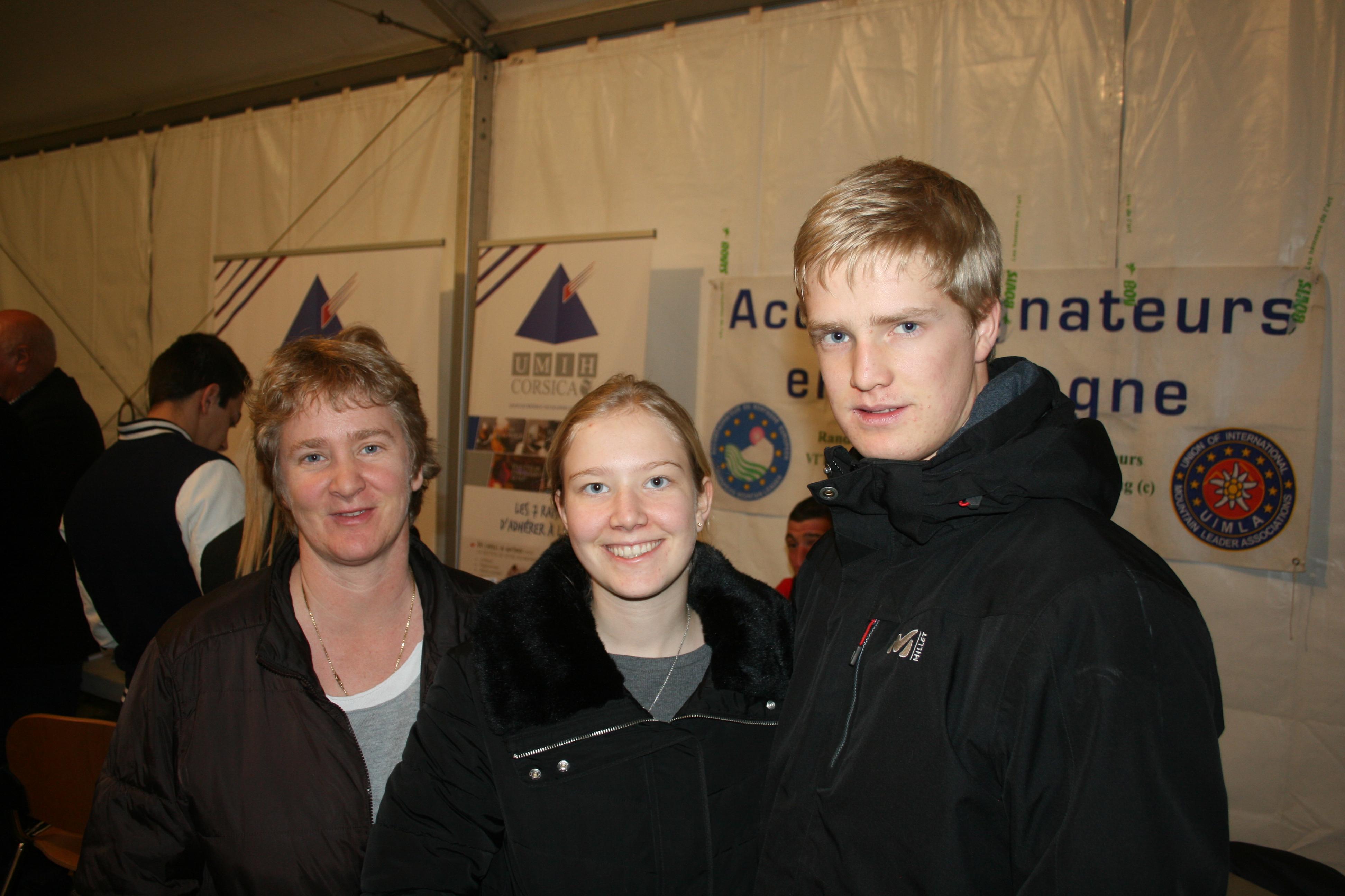 Elsa, 15 ans, et  Eric, 17 ans, interessé par les métiers du sport