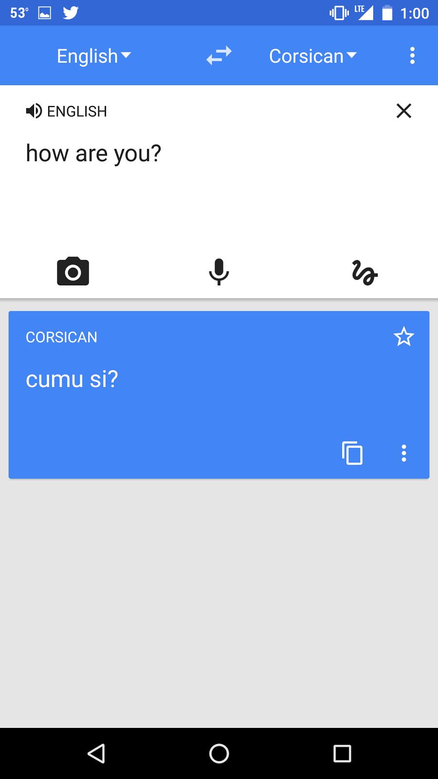 Le corse, nouvelle langue régionale accessible depuis Google Traduction