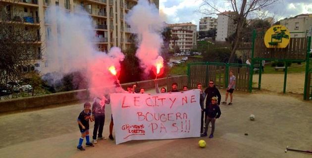 "Ajaccio : ""Le City  ne bougera pas"" clame Ghjuventù Loretto !"
