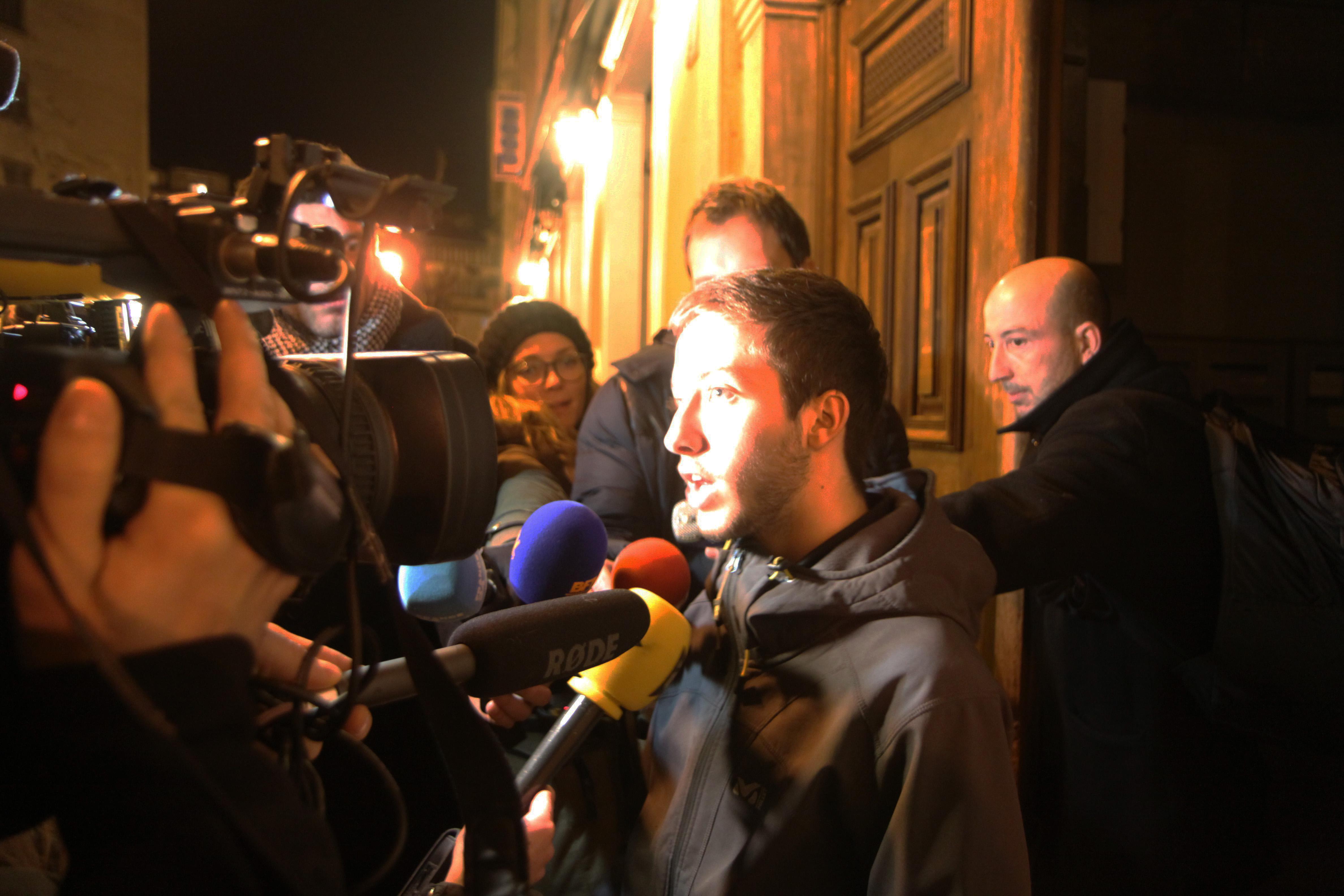 Paul Salort lors de la réunion avec les présidents de l'Assemblée de Corse