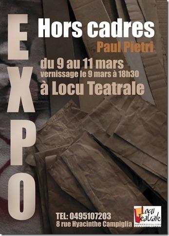 Exposition « Hors cadres », de l'artiste peintre Paul Pietri
