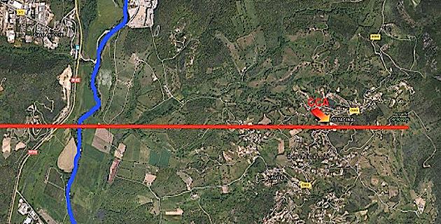Incendie de Corse Composite à Bastelicaccia : Suivi du cours d'eau mis en place par les services de l'Etat