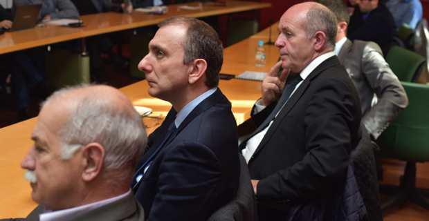 Jean Biancucci, président d'Air Corsica, et Jean Christophe Angelini, président de l'ADEC.
