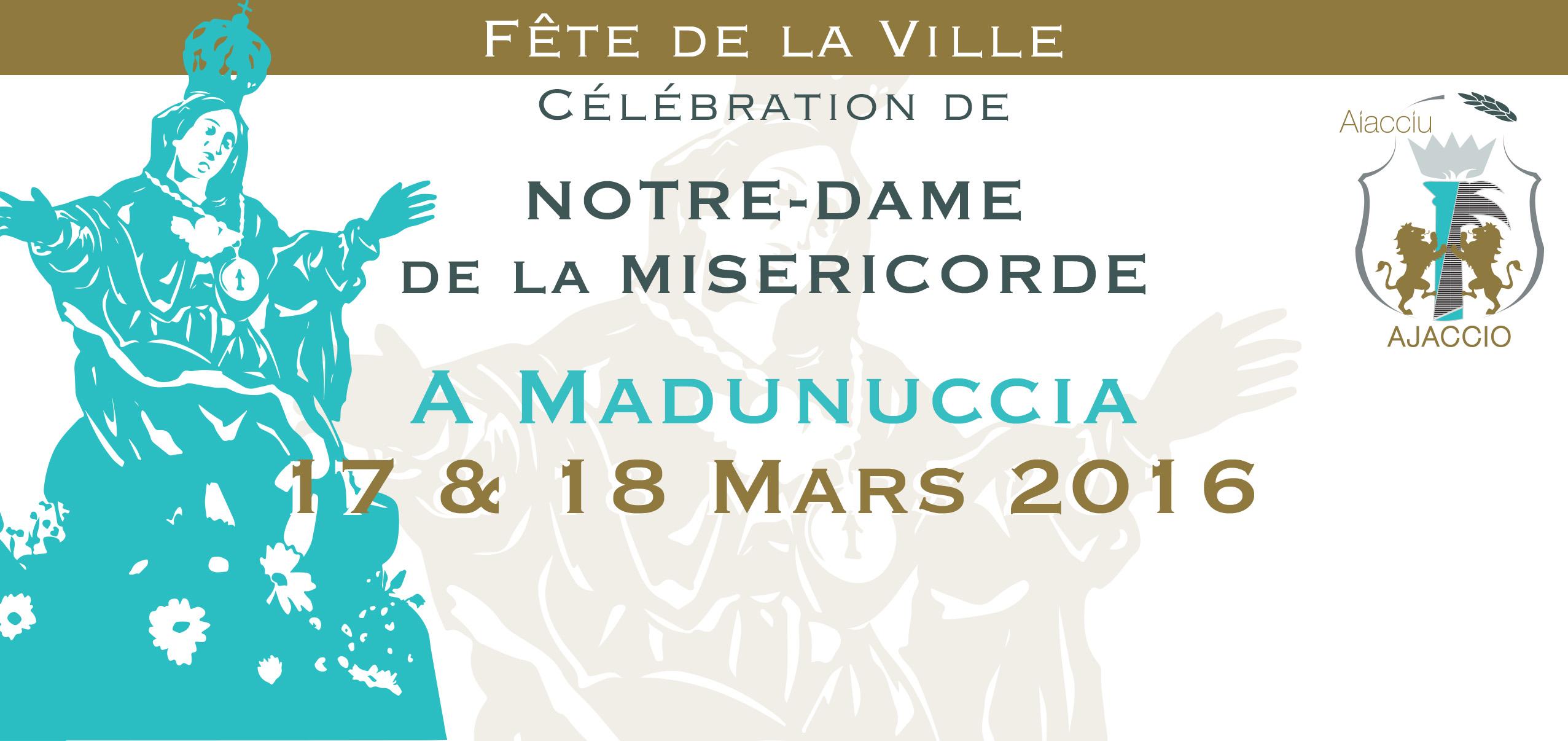 Jeudi 17 et vendredi 18 mars célébration de Notre-Dame de la Miséricorde à Ajaccio