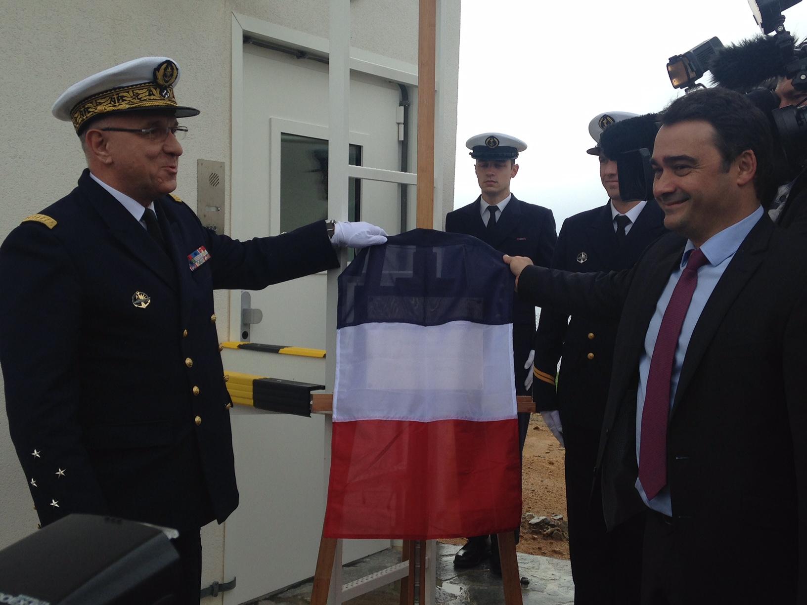 L'Amiral Joly et Stéphane Sbraggia, adjoint au maire d'Ajaccio
