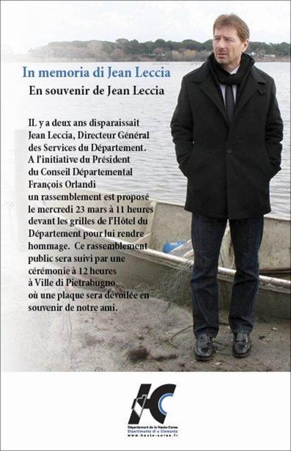 Double cérémonie à Bastia et à Ville-di-Pietrabugno pour rendre hommage à Jean Leccia