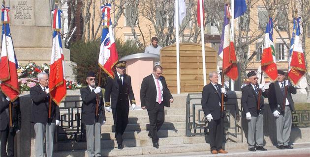 Bastia a honoré la mémoire des victimes civiles et militaires d'Algérie, de Tunisie et du Maroc