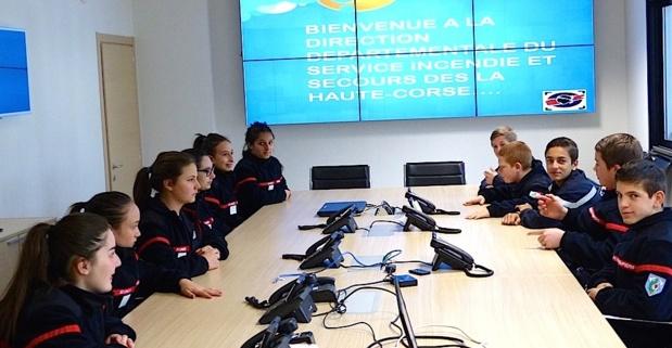 Bastia : Les jeunes sapeurs-pompiers de la plaine ont visité le CODIS 2B
