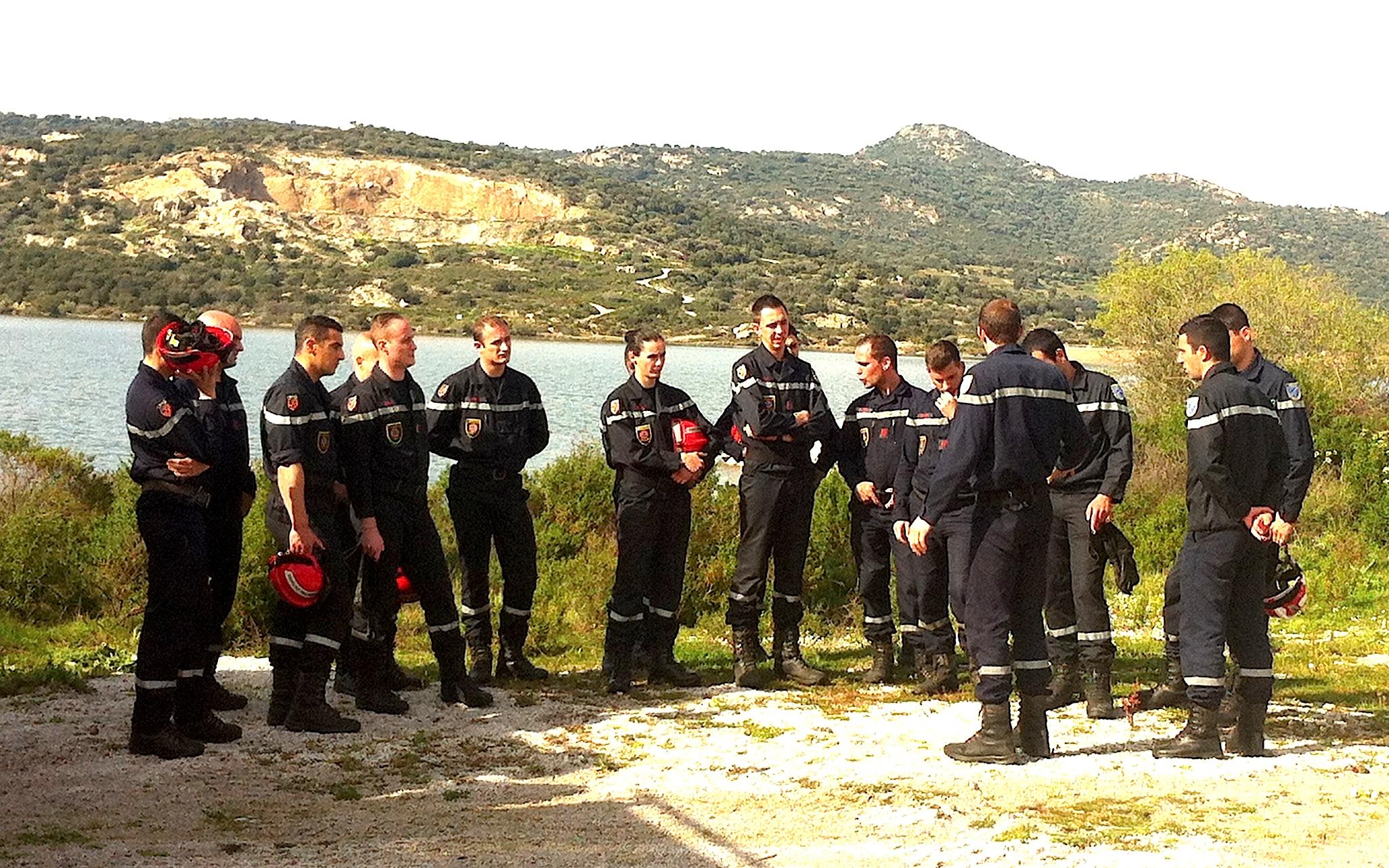L'Unité d'Instruction et d'Intervention de Sécurité Civile 5 (UIISC5) de Corte à l'entraînement en Balagne