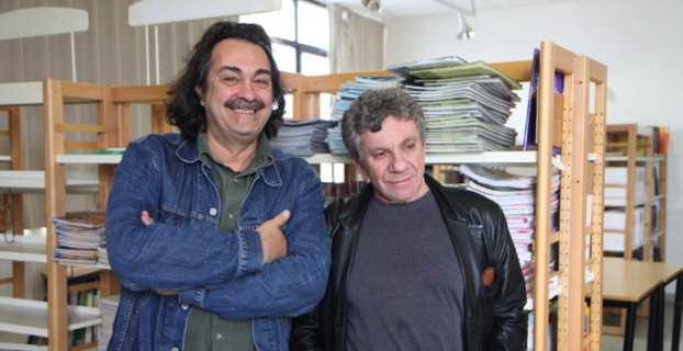 Marcel Fortini, le directeur du centre méditerrannéen de la photographie et Patrick Chauvel