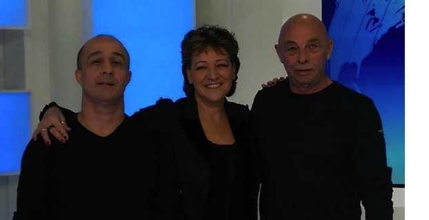 Reine Renou, entourée de l'auteur Charles Bultez et du compositeur Jean-Pierre Porcheddu.
