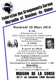 Henri Tomasi à l'honneur, vendredi, à Marseille