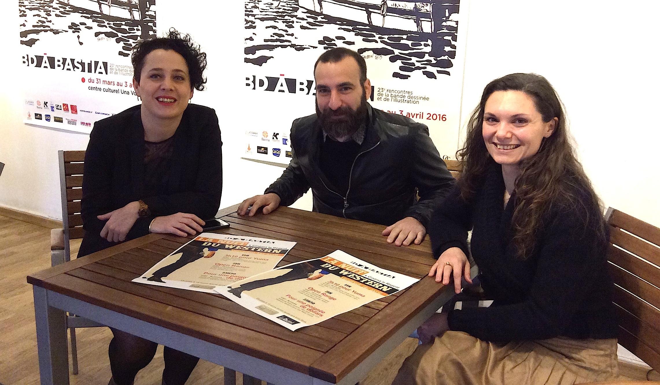 Frédérique Balbinot (The Punchline Ciné-Club Bastia), Daniel Benedittini ( cinéma Le Régent), Juana Macari (Una Volta)