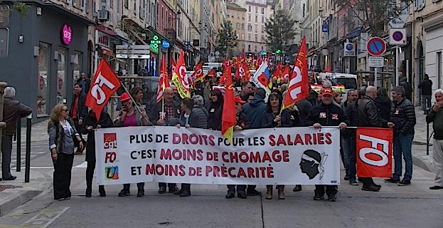 Loi El Khomri : Manifestation à Bastia