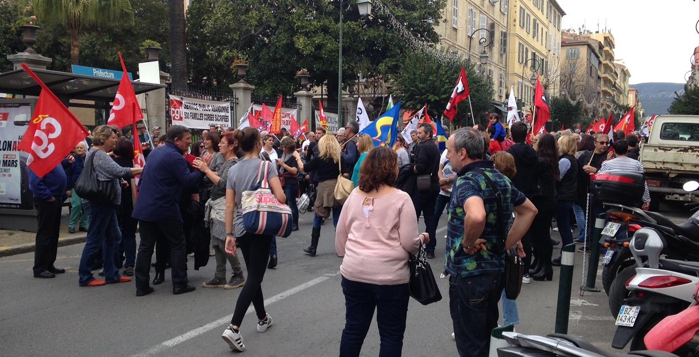 """Projet de loi Travail à Ajaccio :  """"Le Gouvernement refuse de voir la réalité des choses"""""""