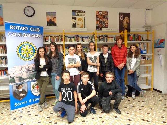 Rotary Calvi-Balagne : Un chèque pour le Collège P. Paoli à L'Ile-Rousse également