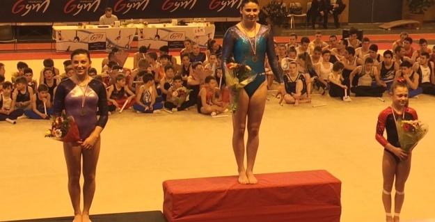 Marie Auffrey en catégorie nationale B sur la première marche du podium !