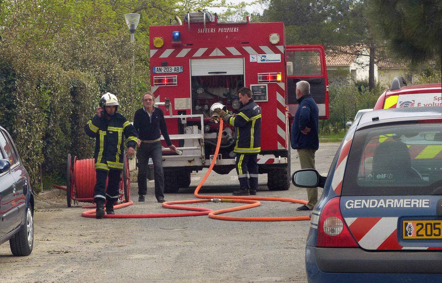 Poggio-Mezzana : Une maison en feu à Alba Serena