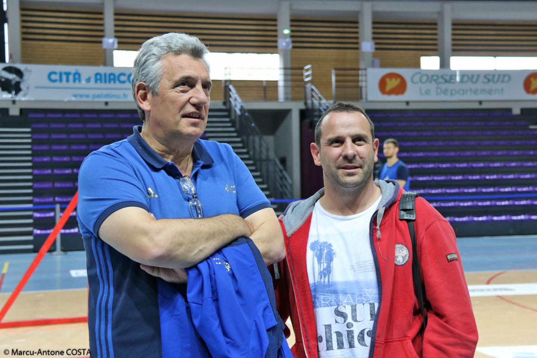 Claude Onesta avec Francois-Xavier Ripoll au Palatinu.