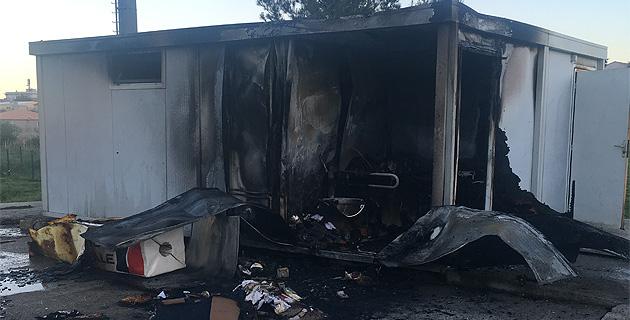 Stade de Volpaghju : Le local du matériel de Bastia XV incendié
