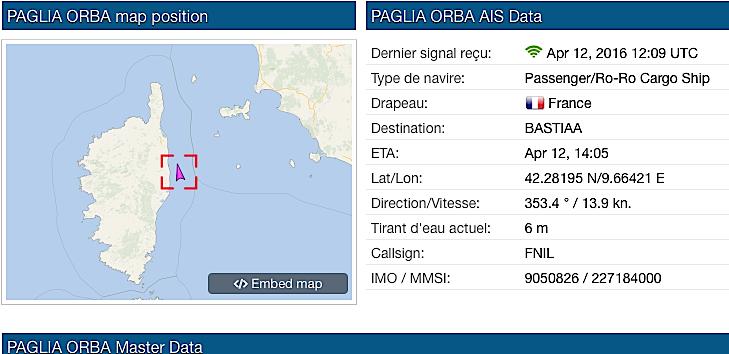 Victime d'une avarie au large de Porto-Vecchio le Paglia Orba navigue vers Bastia