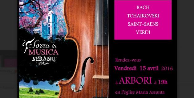Sorru in Musica : L'excellence musicale au cœur même de la Corse débutera à Arbori