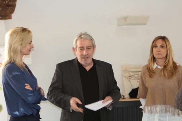 Nathalie Cau, directrice de l'office de tourisme, Pierre Pugliesi, adjoint délégué au tourisme et Marie-Ange Milleliri chargée du pôle territoire et animation.