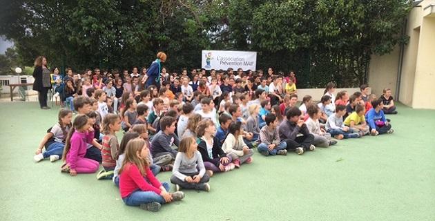 66 permis piéton  remis aux élèves de l'école de Mezzana