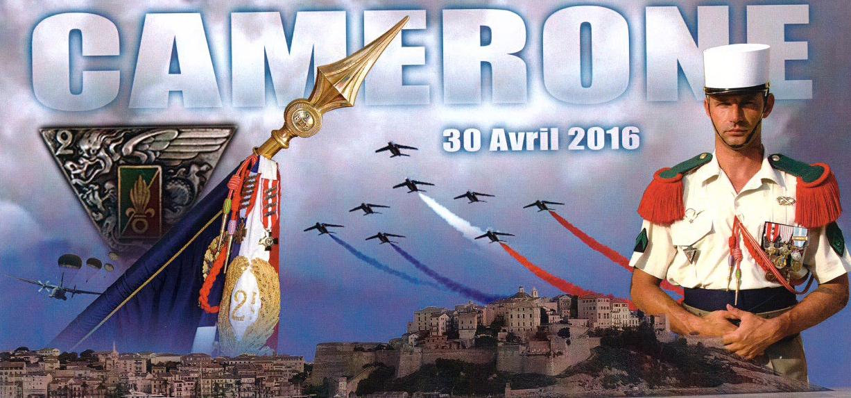 Prise d'armes et kermesse au 2e REP de Calvi  pour le 153e anniversaire du combat de Camerone