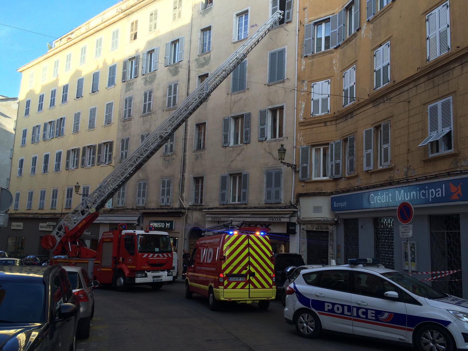 Bastia : Les pompiers interviennent sur le boulevard Paoli