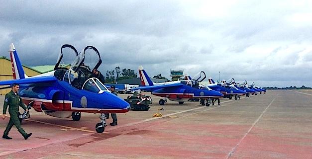 La Patrouille de France enchante une nouvelle fois le ciel Corse