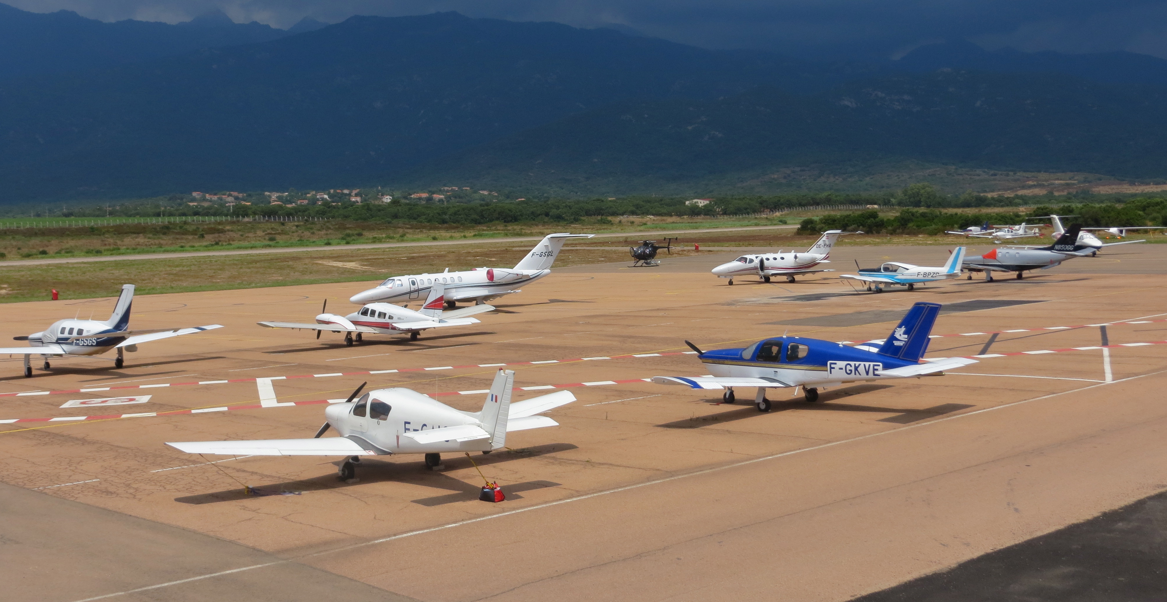 L'aéroport Figari Sud Corse dédié à l'aviation d'affaires.