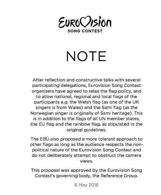 A Bandera et les drapeaux régionaux reviennent au concours de l'Eurovision