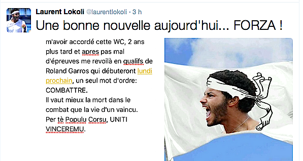 Laurent Lokoli : Retour à Roland Garros deux ans après