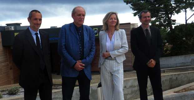 L'ambassadeur de Suède en France, Veronika Wand-Danielsson, et Paul-Marie Romani, président de l'université de Corse visitent la plateforme expérimentale MYRTE.